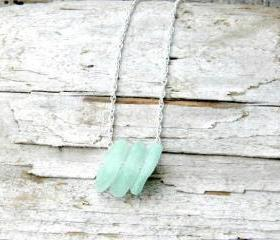 Sea Glass Necklace - Sea foam Green sea glass, sea glass jewelry, beach jewelry, bridesmaids, Sterling Silver Jewelry handmade