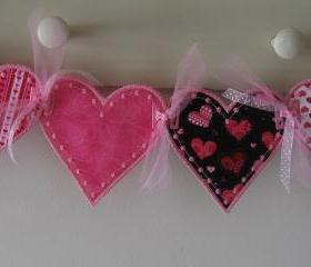 Pink Valentine Hearts