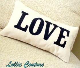 Love Pillow - Valentine Pillow - Valentine Gift - Valentines Day Decor - 6' x 11'