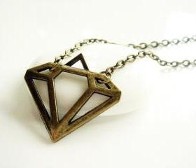 Antique Inspired Diamond Pendant Necklace