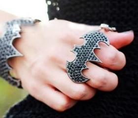 Punk Bat Double Ring