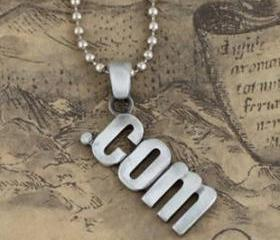 Fashion '.com' Men's Pendant Necklace