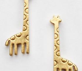 Cute Golden Mini Giraffe Earrings