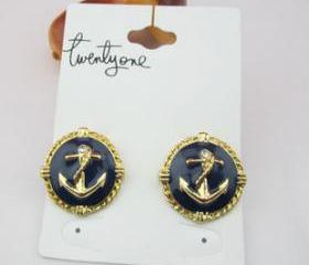 Fashion Anchor Stud Earring