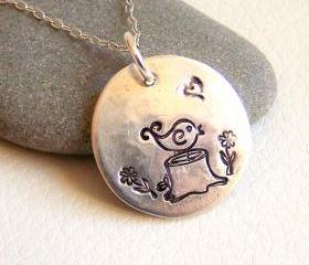 LIttle Bird Silver Necklace 