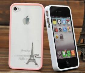 tower Contact back shell case for iphone 4/4s-pink