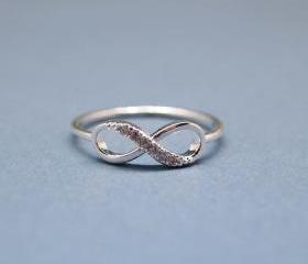 Infinity Ring in silver color-size 9