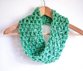 Mint Infinity Cowl Scarf