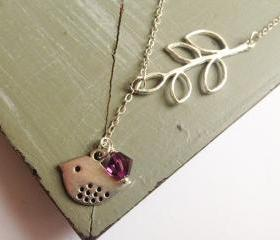 Little Birdy- Silver Plated Bird Necklace