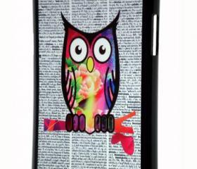Samsung Galaxy Note II Colorful Pattern Owl Hard Cover Case Note II
