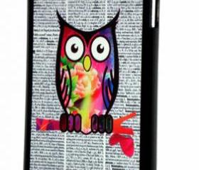 iPod Touch 5th Generation Colorful Owl on Dictionary Print Design Cover Case