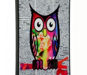 iPhone 5 Colorful Pattern Owl on Dictionary Print Hard Cover Case iPhone 5
