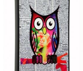 iPhone 4/4S Colorful Owl On Dictionary Print Hard Cover Case iPhone 4S