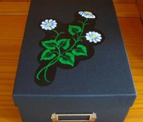 Black Memory Box With Flowers