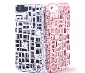 Hollow out critical crack case for iphone 4/4s-pink