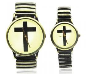 Vintage Style Cross Logo Couple Watches