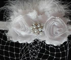 White Shabby Chic Headband