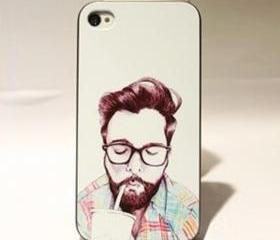 Cute Guy Hard Cover Case For Iphone 4/4s