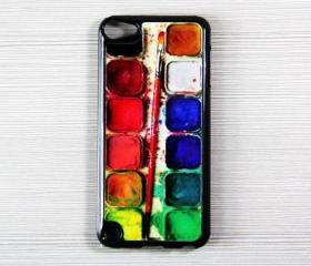 Watercolor Palette iPod Touch 5 Hard Cover Case