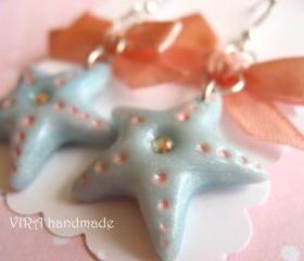 Kawaii sea star earrings