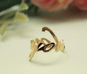 925 sterling silver LOVE YOU Ring in Gold