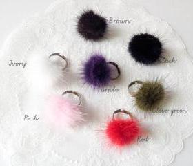Colorful Fur rings-your color choice