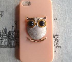 Steampunk Owl hard case For Apple iPhone 4 case iPhone 4s case cover