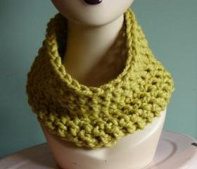 Chunky Cowl Snood Cowl Scarf - Citron (Yellow)