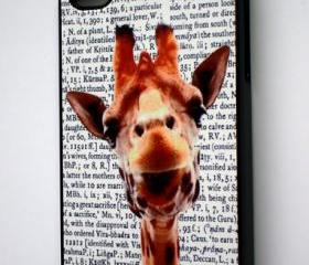 iPhone 4/4S Funny Giraffe on Dictionary Print Hard Cover Case iPhone 4/4S