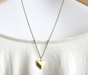  Listing Tools Edit Promote Copy Stats Geometric Necklace // Brass Modern Geometric Necklace // Chevron Charm Necklace // Layering Necklace