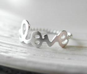 Love ring 6.5 size in silver