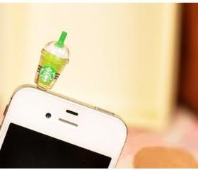 Starbucks Style Anti-Dust Earphone Jack for iPhone 4 and 4S Assorted Color