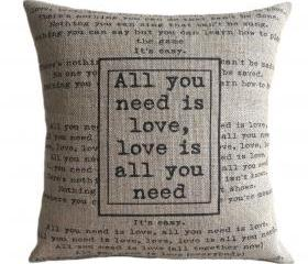 'All You Need Is Love' Pillow Cover
