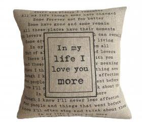 'In My Life' Pillow Cover