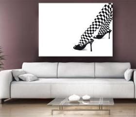 15x11 Digital printed Canvas Female Legs wall photo (size: 15x11 inch plus border).