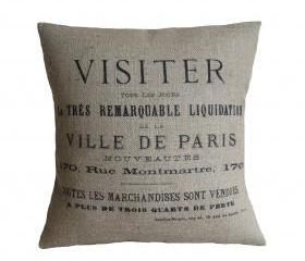 Ville De Paris Pillow Cover 