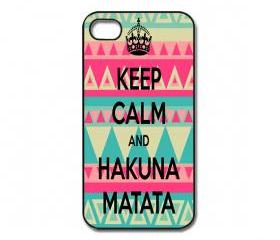 Keep Calm Hakuna Matata iPhone 4/ 4s /5 Case / Cover. Silicone Rubber / Hard Plastic