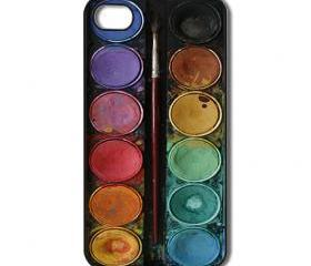 Watercolor Palette iPhone 4/ 4s /5 Case / Cover. Silicone Rubber / Hard Plastic