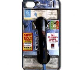 Public Phone iPhone 4/ 4s /5 Case / Cover. Silicone Rubber / Hard Plastic