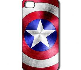 Captain America iPhone 4 / 4s / 5 case/cover. Silicone rubber / Hard Plastic