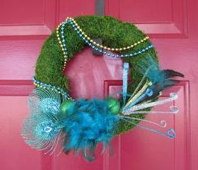 Mardi Gras Wreath