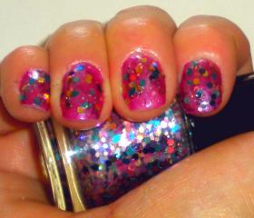 "Nail Polish - Glitter Nail Polish - ""KABOOM"" - Holographic Glitter Nail Polish - 0.5 oz Full Sized Bottle"