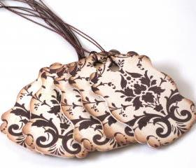 Brown & Cream Classic Gift Tags