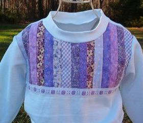 Girls skirt set in sweatshirt fleece with strip quilting size3T