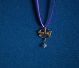 Vintage Dragonfly with crystal pendant **Updated**