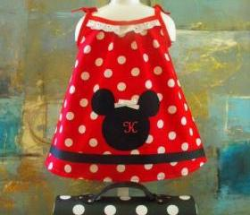 Polka dot Monogram Dress for girls- made to order
