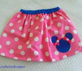 PINK POLKA DOT SKIRT- MADE TO ORDER