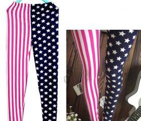  Star and Stripe Leggings