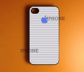 Iphone case - Blue Apple stripes , Iphone 4 case , Iphone 4s case
