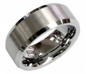 Tungsten wedding band ' FREE ENGRAVING ', MMDTR035 8mm Tungsten Carbide engagement ring